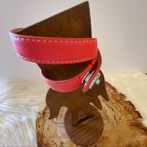 COACH Leather Double Wrap Bracelet NWOT